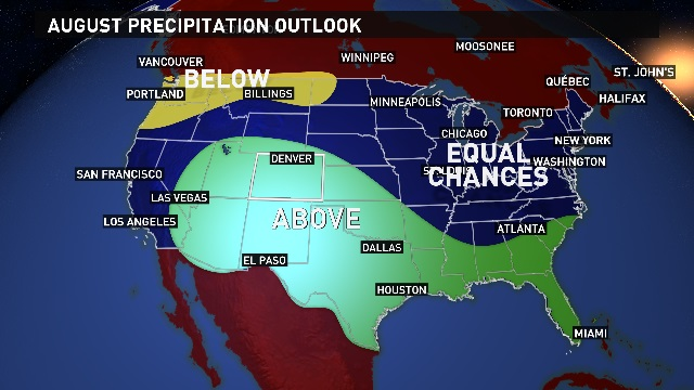 August 2017 Precip Outlook