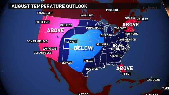 August 2017 Temperature Outlook